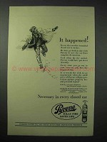 1923 Pyrene Fire Extinguisher Ad - Happened