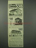 1923 Aladdin Co. Ad - 5-room House, 7-room, Dutch