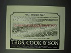 1923 Thos. Cook & Son Cruise Ad - When Marco Polo