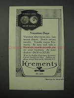 1923 Krementz Tuxedo Links Jewelry Ad - Vacation Days