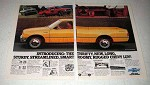 1981 Chevy LUV Pickup Truck Ad - Thrifty, Sturdy, Roomy
