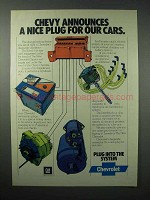 1977 Chevrolet Service Car Ad - A Nice Plug for Cars