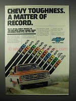 1977 Chevy Trucks Ad - Toughness a Matter of Record