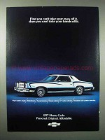 1977 Chevrolet Monte Carlo Car Ad - Can't Take Eyes Off