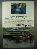 1968 Chevrolet Caprice Coupe Car Ad - These Features