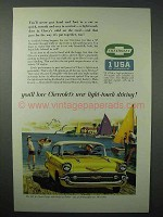 1957 Chevrolet Bel Air Sport Coupe Car Ad