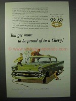 1957 Chevrolet Bel Air Sport Coupe Car Ad - Proud Of