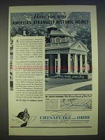 1940 Chesapeake & Ohio Railroad Ad - Monticello