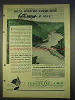 1940 Chesapeake & Ohio Railroad Ad - New River Gorge