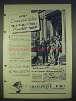 1940 Chesapeake & Ohio Railroad Ad - Travel Package
