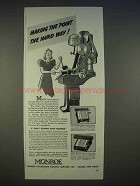 1940 Monroe Adding Calculator Ad - Making the Point