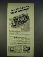 1940 Monroe Adding-Calculator Ad - Drunk With Power