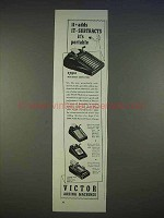1940 Victor Adding Machines Ad - It Adds, Subtracts