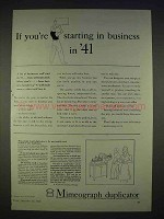 1940 Mimeograph Duplicator Ad - If Starting Business