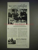 1940 Dictaphone Ad - You'r a Monkey Wrench in Human
