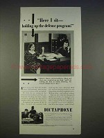 1940 Dictaphone Machine Ad - Holding up Defense Program