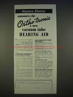 1940 Western Electric Ortho-Tronic Hearing Aid Ad