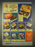 1940 Whitman's Chocolates Ad - Wouldn't Be Christmas