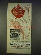 1940 Swift's Identified Lamb Ad - For the Finest Lamb