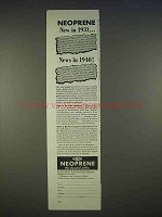 1940 DuPont Neoprene Ad - New in 1931, News in 1940