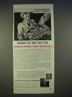 1940 J&L Steel Ad - Thanks to the Tin Can Basket Full