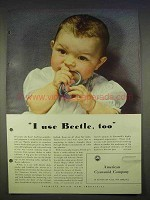 1940 American Cynamid Beetle Plastic Ad - I Use Too