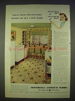 1940 Armstrong Linoleum Floor Ad - Check Features