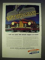 1940 Revere Copper and Brass Ad - Lift the Mask