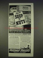 1940 Fruehauf Trailers Ad - From Soup to Nuts
