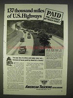 1940 American Trucking Associations Ad - U.S. Highways