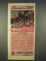 1940 Moore-McCormack Lines Cruise Ad - Carnival in Rio