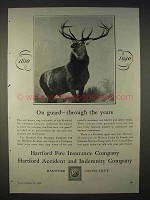 1940 Hartford Insurance Ad - On Guard Through Years