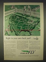 1940 Air Transport Association Ad - In Your Back Yard