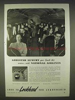 1940 Lockheed Aircraft Ad - National Airlines