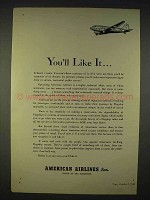 1940 American Airlines Ad - You'll Like It