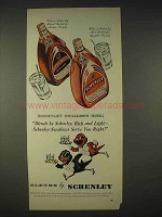 1940 Schenley Whiskey Ad - Swallows Sing