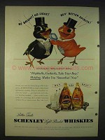 1940 Schenley Whiskey Ad - Be Bright Go Light!