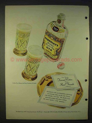 1940 Schenley Gin Ad - For Your Severest Critics Your Friends