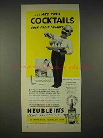 1940 Heublein's Club Cocktails Ad - Such Great Shakes