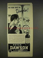1940 Peter Dawson Scotch Ad - Trust in Dimples