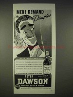 1940 Peter Dawson Scotch Ad - Men! Demand Dimples