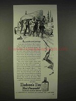 1940 Hudson's Bay Scotch Ad - By Paddle and Portage