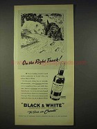 1940 Black & White Scotch Ad - On the Right Track