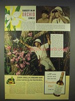 1940 Canadian Club Whisky Ad - Robbery in Orchid Jungle