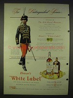 1940 Dewar's White Label Scotch Ad - 10th Royal Hussars
