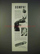 1940 Barbasol Shaving Cream Ad - Oomph