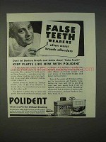1940 Polident Denture Cleaner Ad - Breath Offenders