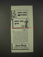 1940 Sani-Flush Toilet Cleaner Ad - Easy for You