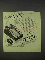1940 Victor Adding Machine Ad - Every Retailer Needs
