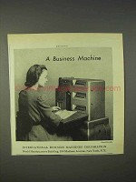 1940 IBM International Business Machine Ad